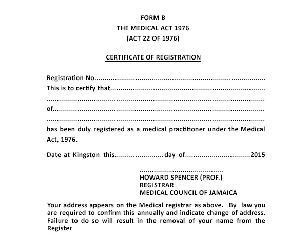 medical certificate from doctor
